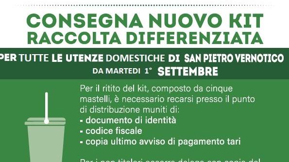 Notizia Studio Amica - Consegna nuovo kit raccolta differenziata
