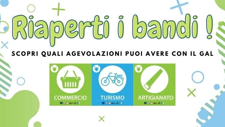 Notizia Studio Amica - Terra dei Messapi Gruppo di azione locale: Riapertura bandi Commercio, Turismo e Artigianato