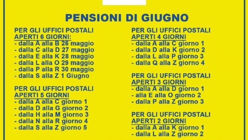 Notizia Studio Amica - Emergenza Covid 19 - Pagamento pensioni Giugno